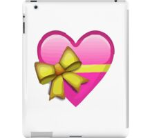 Heart With Ribbon Apple / WhatsApp Emoji iPad Case/Skin