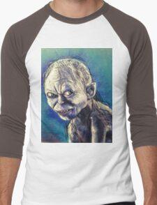 Portrait of Gollum Men's Baseball ¾ T-Shirt