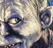 Portrait of Gollum Sticker