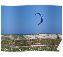 Lonely Kite Surfer Poster