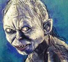 Portrait of Gollum by albandizdari