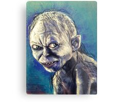 Portrait of Gollum Metal Print