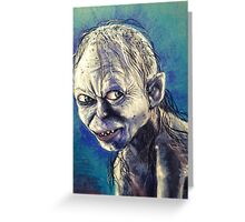 Portrait of Gollum Greeting Card