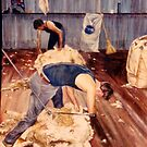 Shearing at Sungarrin by Lynda Robinson