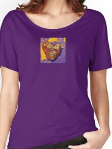 Kintsugi Golden Heart Women's Relaxed Fit T-Shirt