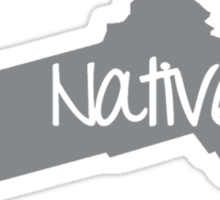 Massachusetts Native Pride MA Boston Sticker