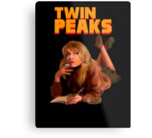 Twin Peaks Fiction (Pulp Fiction parody) Metal Print