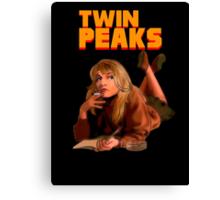 Twin Peaks Fiction (Pulp Fiction parody) Canvas Print