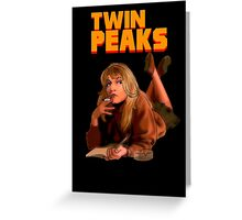 Twin Peaks Fiction (Pulp Fiction parody) Greeting Card