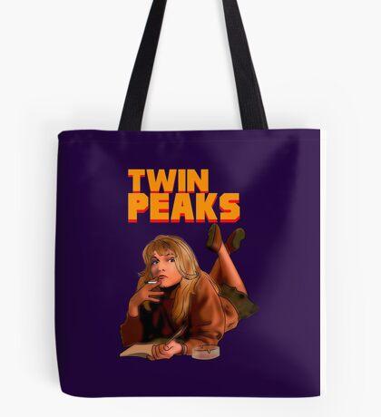 Twin Peaks Fiction (Pulp Fiction parody) Tote Bag
