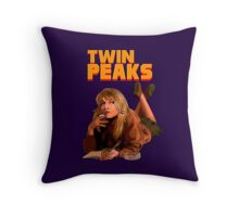 Twin Peaks Fiction (Pulp Fiction parody) Throw Pillow