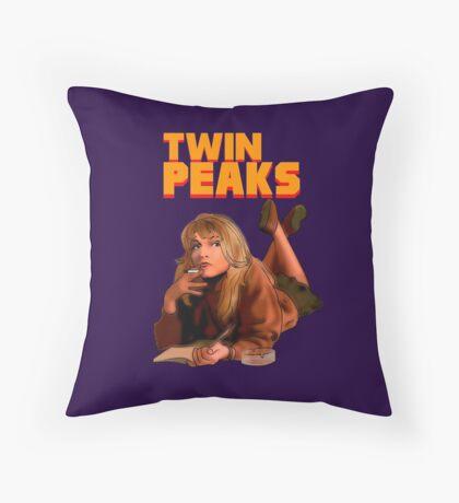 Twin Peaks Fiction (Pulp Fiction parody) Throw Pillow
