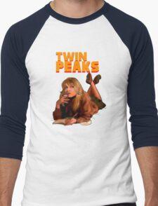Twin Peaks Fiction (Pulp Fiction parody) Men's Baseball ¾ T-Shirt