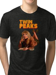 Twin Peaks Fiction (Pulp Fiction parody) Tri-blend T-Shirt