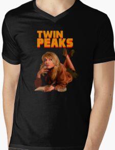 Twin Peaks Fiction (Pulp Fiction parody) Mens V-Neck T-Shirt