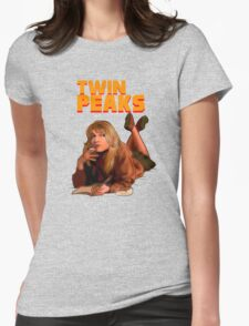Twin Peaks Fiction (Pulp Fiction parody) Womens Fitted T-Shirt
