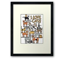 I Love Cats Framed Print