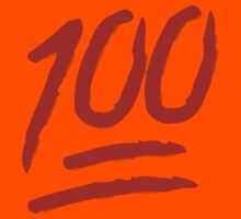 Hundred Points Symbol Apple / WhatsApp Emoji Kids Clothes