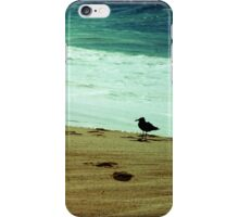 Calm beach photography 8x8 print, Los Cabos Mexico travel photography, green ocean waves seabird deep in thought dreamy TTV iPhone Case/Skin