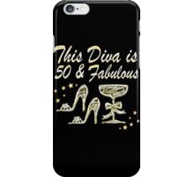 GORGEOUS GOLD 50 AND FABULOUS iPhone Case/Skin