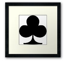 Poker Suit Club Framed Print