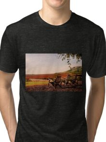 View from Cambria Winery, Santa Maria, CA Tri-blend T-Shirt