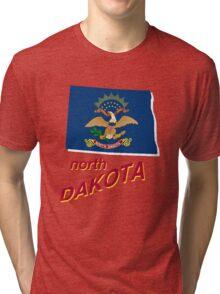 north dakota state flag Tri-blend T-Shirt