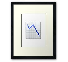 Chart With Downwards Trend Apple / WhatsApp Emoji Framed Print