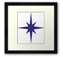 Compass Star Framed Print