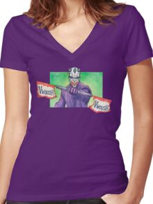 The joker Maul Women's Fitted V-Neck T-Shirt