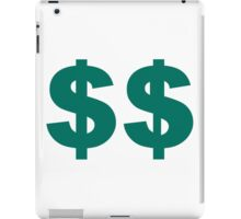Double Dollar Sign iPad Case/Skin