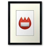 Name Badge Apple / WhatsApp Emoji Framed Print