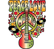Peace-Love-Music Photographic Print