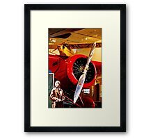 Amelia Earhart and Lockheed Vega 5B Framed Print