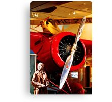 Amelia Earhart and Lockheed Vega 5B Canvas Print