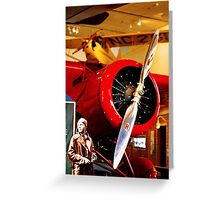 Amelia Earhart and Lockheed Vega 5B Greeting Card