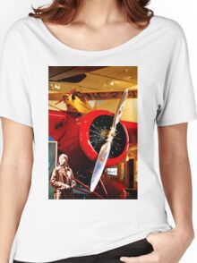 Amelia Earhart and Lockheed Vega 5B Women's Relaxed Fit T-Shirt