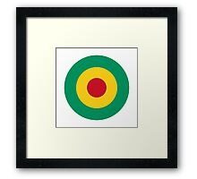 Guinean Air Force - Roundel Framed Print