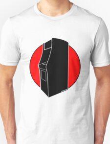 Retrogamer - Arcade Cabinet Silhouette - RED T-Shirt