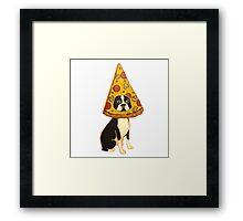 Boston Terrier Pizza Dog Framed Print
