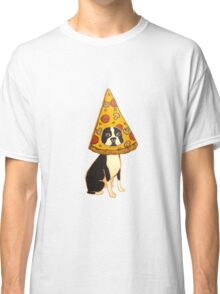 Boston Terrier Pizza Dog Classic T-Shirt