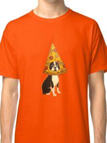 Boston Terrier Pizza Dog Classic T-Shirt