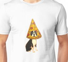 Boston Terrier Pizza Dog Unisex T-Shirt