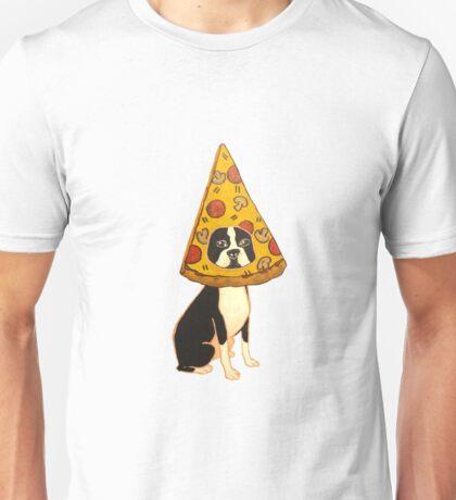 Boston Terrier Pizza Dog Unisex T-Shirt