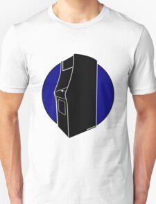 Retrogamer - Arcade Cabinet Silhouette - BLUE T-Shirt