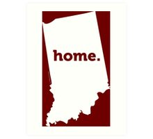 Indiana HOME WHITE Art Print