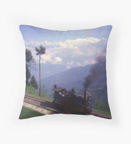 Steam Engine on Darjeeling Railway, India. Throw Pillow