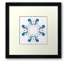 Raining Blue Framed Print