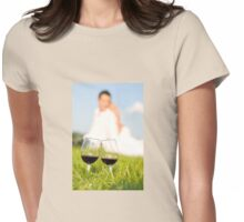 two wineglasses wedding picnic Womens Fitted T-Shirt