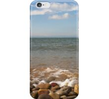 Pebble view of the beach, Mumbles Wales iPhone Case/Skin